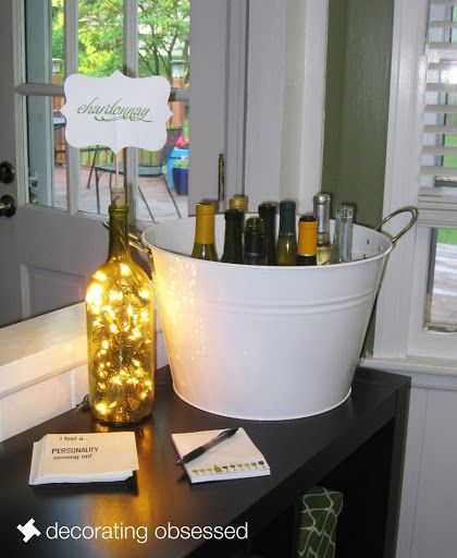 25 best ideas about Wine party decorations on Pinterest  Ladies night Bridesmaid wine glasses