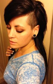 long hair side shave hairstyles