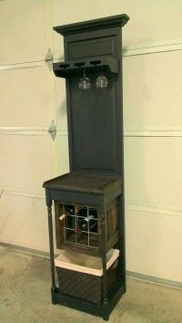 Wine bar made from repurposed items and bifold door www ...