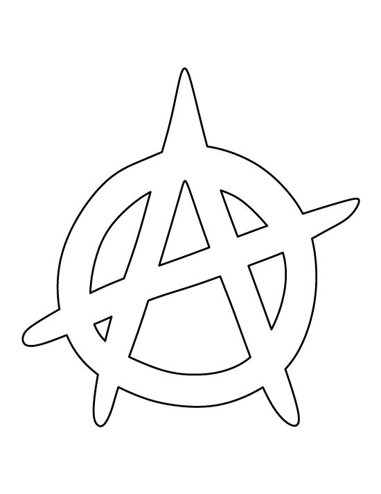 Anarchy symbol pattern. Use the printable outline for