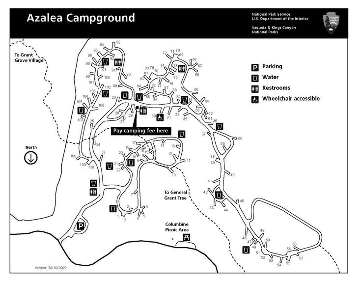 25+ best ideas about Sequoia national park map on