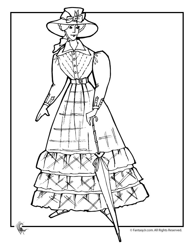 17 Best images about adult victorian coloring pages on