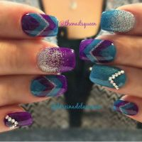 25+ best ideas about Teal Acrylic Nails on Pinterest ...