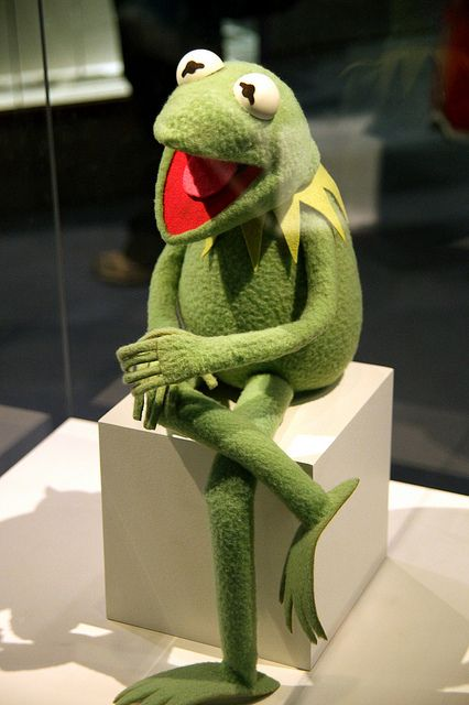 Kermit the Frog on display at the Smithsonian Museum of