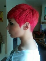 rear view of pixie cut