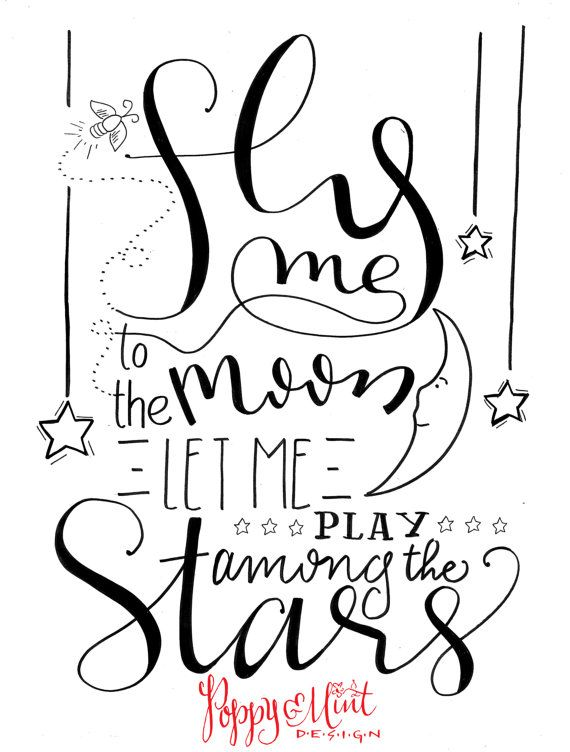 Fly me to the moon...let me play among the stars