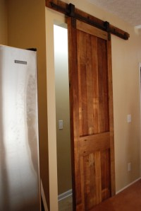 sliding pantry barn door inspired