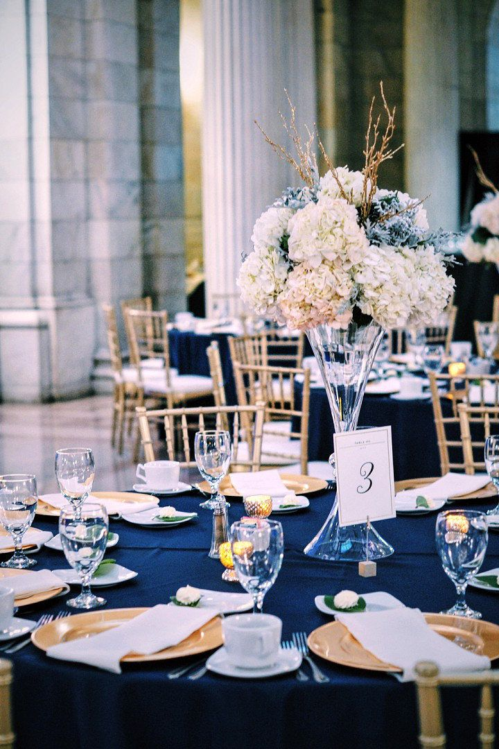 wedding decorations chairs receptions white leather office chair australia navy and gold tablescape at the old cleveland courthouse | boutique bridal book cle ...