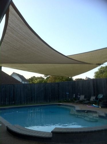 Amazoncom  New ProSource Sand Color 16 Oversized Sun Shade Sail Shade canopy Sun Shelter