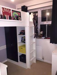 Tiny box room, ikea stuva loft bed. Making the most of ...