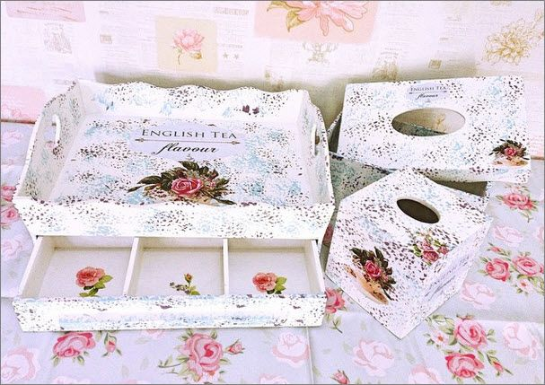 Shabby Chic Wooden Craft with Decoupage Finishing, and use