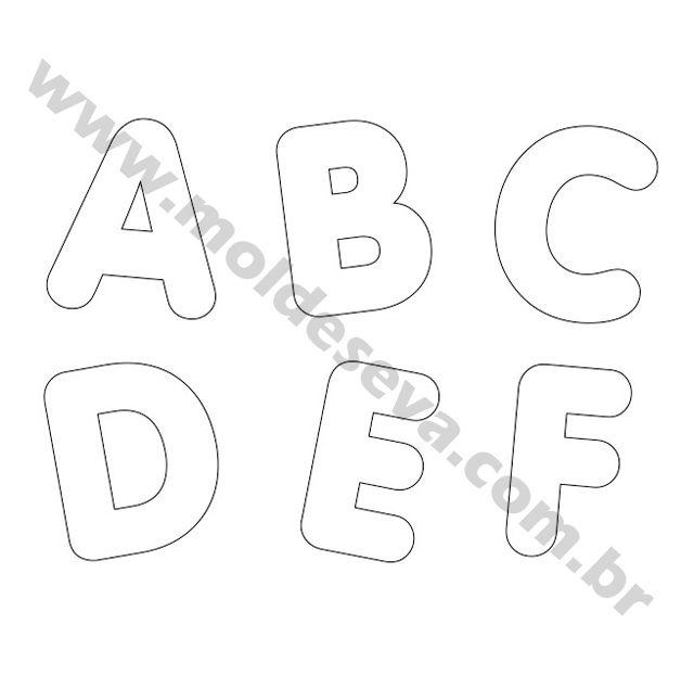 Molde de Letras para EVA em tamanho grande ideal para seus