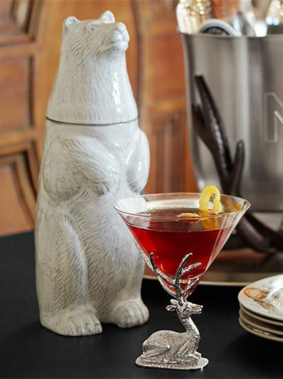 Polar bear cocktail shaker  how cool Or I guess I