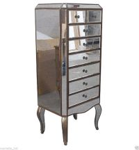 Lingerie Chest Tall Antique Mirror on Hardwoods 4.5' tall ...