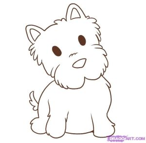 draw dog animals easy drawing dogs step westie drawings simple things puppies pet dragoart cartoon puppy fun animal clipart pets