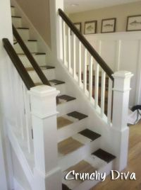 Open Staircase to LR and Kitchen (this staircase was