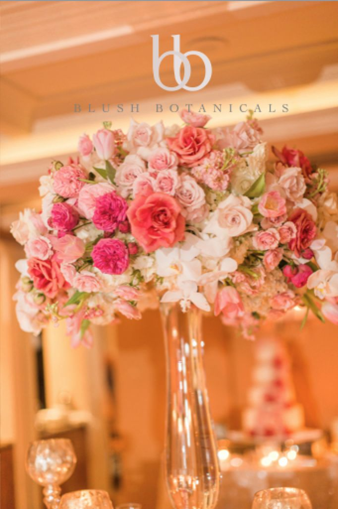 chair covers rose gold office without wheels uk a tall blush, coral, pink wedding centerpiece at the la valencia hotel | blush receptions ...
