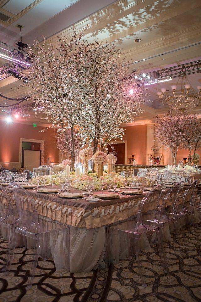 Silk Cherry Blossom Tree Centerpiece  Decorating  Table