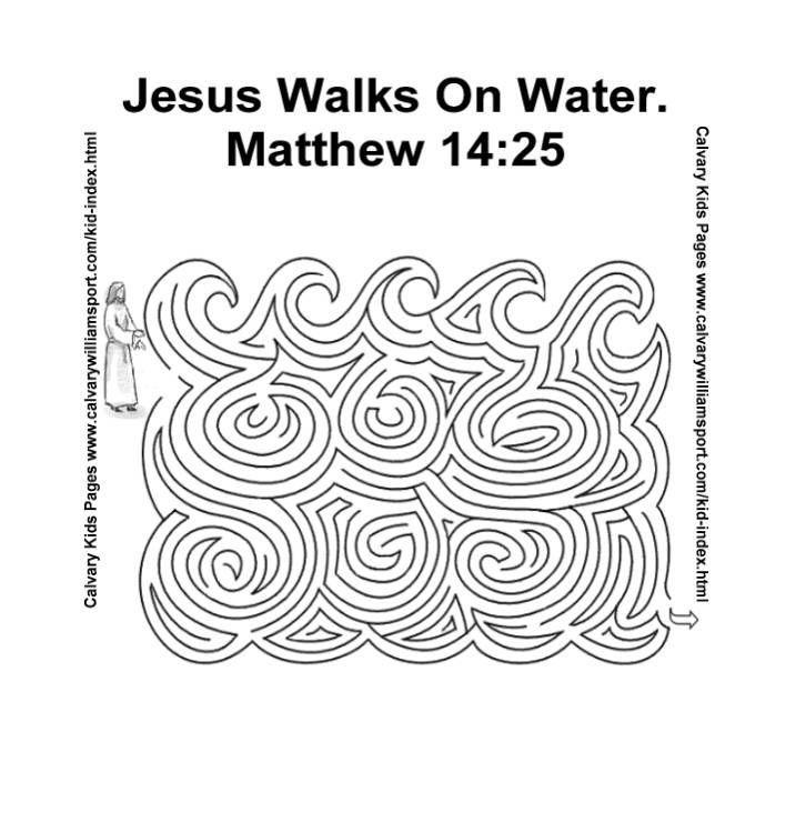 Jesus walks on water maze. This maze will help you prepare
