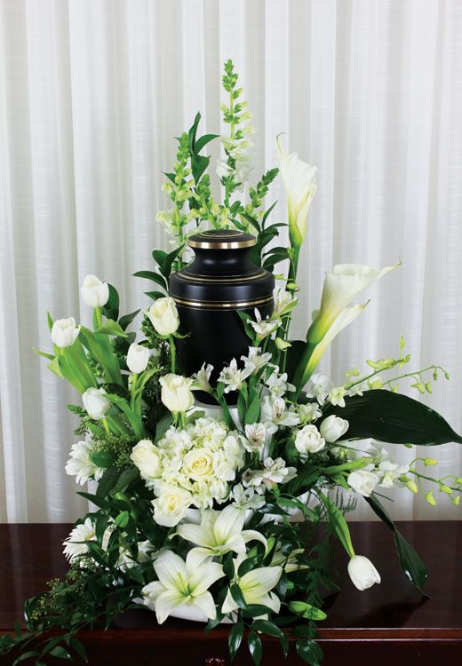 Urn Arrangement  Tribute  Pinterest  Sympathy flowers