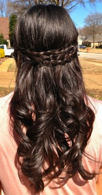 Elegant Half Updo for Long AND Short hair!! 1&1/2 inch ...