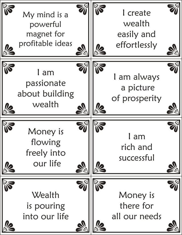 Printable Affirmation Cards-wealth Photo: This Photo was