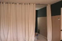 Curtain room divider DIY. These people used a Ceiling ...