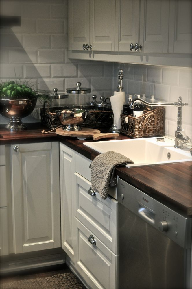 kitchen countertop ideas cheap canisters pottery kitchen-love the white matte subway tile with dark ...