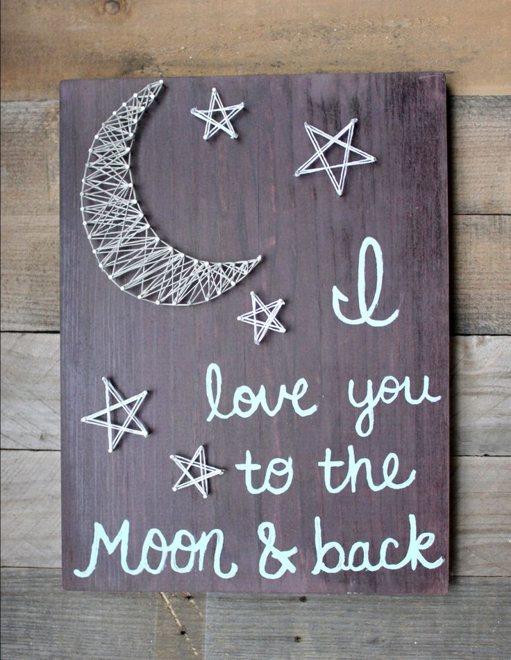 I love you to the moon and back string art by NailedItCustomCrafts on Etsy www.etsy.com/…