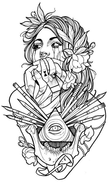 138 best neo traditional drawings images on Pinterest