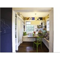 Errez design- breakfast room with vintage Cuban tile wall ...