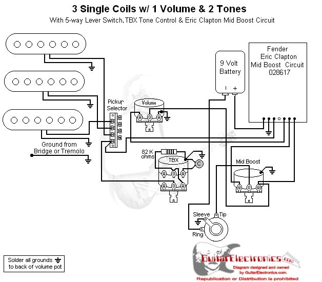 volume 1 tone pickup wiring diagram
