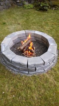 Home made fire pit | Outdoors | Pinterest | Fire pits ...