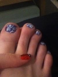 Paisley inspired toe nail art | Nails | Pinterest | Nail ...