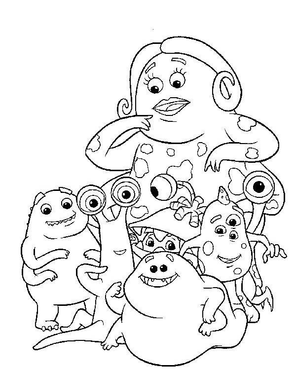 34 best images about Coloring Pages (Monsters, Inc.) on