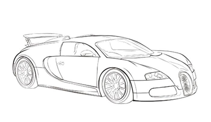 Car Sport Bugatti Veyron Coloring Page Bugatti Cars Coloring Pages