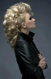 classy blonde curly mohawk hairdos