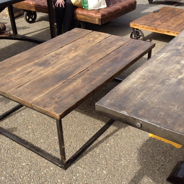 Reclaimed wood table at Alameda Antique Fair (very nice