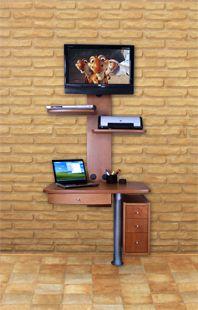 ML CARPINTEROS  Muebles giratorios para TV de plasma y LCD Mesas para Computadoras Laptops y Muebles Utilitarios  Muebles  Pinterest