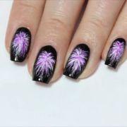 firework nails ideas