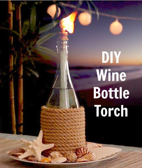 25+ best ideas about Wine Bottle Lamps on Pinterest