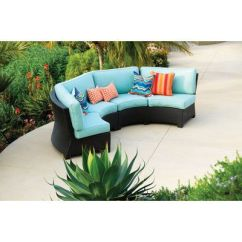Montclair All Weather Wicker Sectional Sofa Set Spencer Place Azure Reviews Modern Curved Outdoor | Canada ...