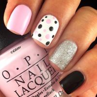 17+ best ideas about Pink Black Nails on Pinterest | Pink ...