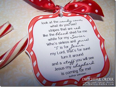 Free Printable Candy Cane Poem Happy Birthday Jesus