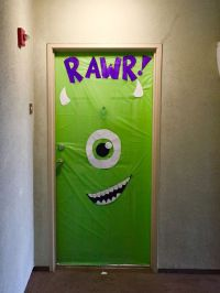 Halloween door decoration... Monsters Inc.. Super easy and ...