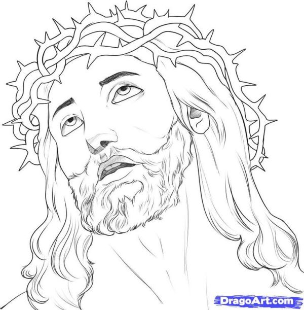 jesus christ on the cross drawings How to draw jesus