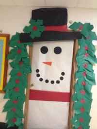 Christmas snowman door decoration for speech therapy room ...