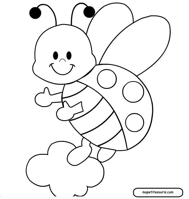 Pin Ladybug Printable Coloring Pages Free Download Tattoo