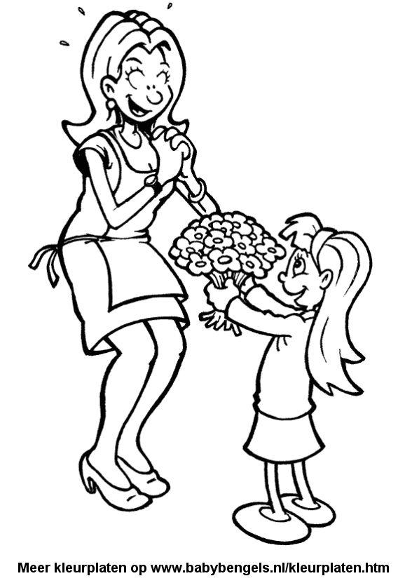 Valentijn Kleurplaten Mama.Kleurplaten Valentijn Moederdag En Vaderdag Creatief En Viewletter Co