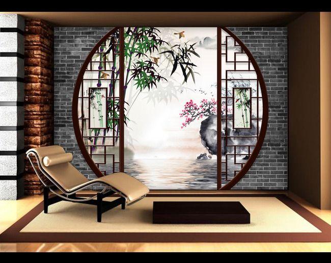 dcoration murale style asiatique papier peint personnalis tapisserie numriquesur mesure